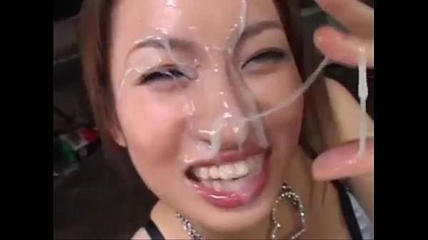 Chinese girl with cum on her face