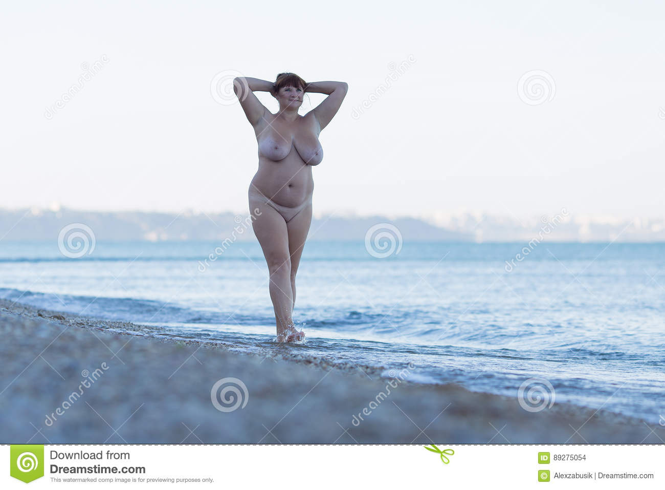 Fat arms raised nude
